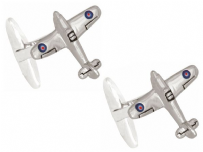 Dalaco 90-1434 Hurricane Aircraft Rhodium Plated Cufflinks